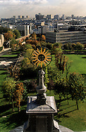 France. Paris. elevated view. The garden . view from the dome of The Val de Grace church hospital  Grace