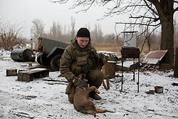Ukraina<br /> <br /> Zima från Sibirien i Ryssland strider med DPR, Donetsk People Republic, mot Ukraina. Han är placerad i Spartak utanför Donetsk.<br /> <br /> Photo: Niclas Hammarström