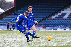 Rochdale's Matt Done fires a free kick  - Photo mandatory by-line: Matt McNulty/JMP - Mobile: 07966 386802 - 17.01.2015 - SPORT - Football - Rochdale - Spotland Stadium - Rochdale v Crawley Town - Sky Bet League One