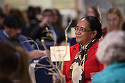 Deborah McDavis listens to opening remarks at The Global Engagement Awards Gala for International Education Week on November 16, 2016.