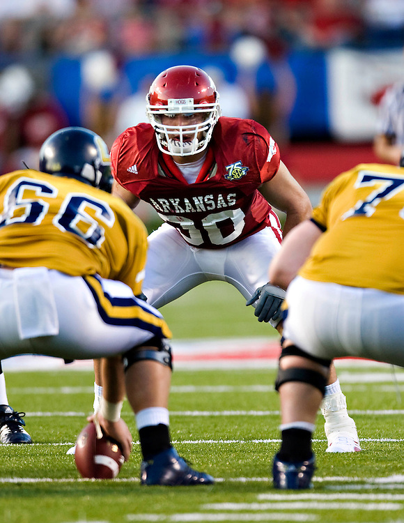 Arkansas Razorbacks vs Tennessee Chattanooga on October 7, 2007 at War Memorial Stadium in Little Rock, Arkansas.