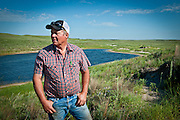 Bruce Boettcher, a Keystone XL opponent, looks out on his Sandhills ranch land in July 2013, south of Atkinson, Nebraska.