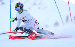 28.01.2018, Lenzerheide, SUI, FIS Weltcup Ski Alpin, Lenzerheide, Slalom, Damen, 1. Lauf, im Bild Katharina Gallhuber (AUT) // Katharina Gallhuber of Austria in action during her 1st run of ladie's Slalom of FIS ski alpine world cup in Lenzerheide, Austria on 2018/01/28. EXPA Pictures © 2018, PhotoCredit: EXPA/ Sammy Minkoff<br /> <br /> *****ATTENTION - OUT of GER*****