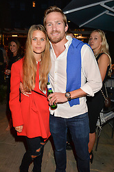 PICTURE SHOWS:-IRENE FORTE and JACOBI ANSTRUTHER-GOUGH-CALTHORPE.<br /> Tuesday 14th April 2015 saw a host of London influencers and VIP faces gather together to celebrate the launch of The Ivy Chelsea Garden. Live entertainment was provided by jazz-trio The Blind Tigers, whilst guests enjoyed Moët & Chandon Champagne, alongside a series of delicious canapés created by the restaurant's Executive Chef, Sean Burbidge.<br /> The evening showcased The Ivy Chelsea Garden to two hundred VIPs and Chelsea<br /> residents, inviting guests to preview the restaurant and gardens which marry<br /> approachable sophistication and familiar luxury with an underlying feeling of glamour and theatre. The Ivy Chelsea Garden's interiors have been designed by Martin Brudnizki Design Studio, and cleverly combine vintage with luxury, resulting in a space that is both alluring and down-to-earth.