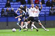 Wycombe Wanderers forward Alex Samuel has a shot at goal during the EFL Sky Bet League 1 match between Bolton Wanderers and Wycombe Wanderers at the University of  Bolton Stadium, Bolton, England on 15 February 2020.