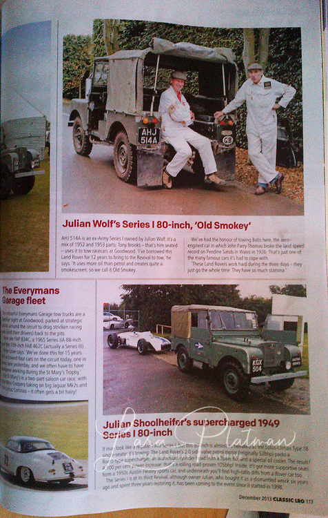 Goodwood Revival Landrover Owner magazine