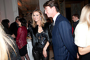 Eva Herzigova; Gregorio Marsiaj, Harper's Bazaar Women Of the Year Awards 2011. Claridges. Brook St. London. 8 November 2011. <br /> <br />  , -DO NOT ARCHIVE-© Copyright Photograph by Dafydd Jones. 248 Clapham Rd. London SW9 0PZ. Tel 0207 820 0771. www.dafjones.com.