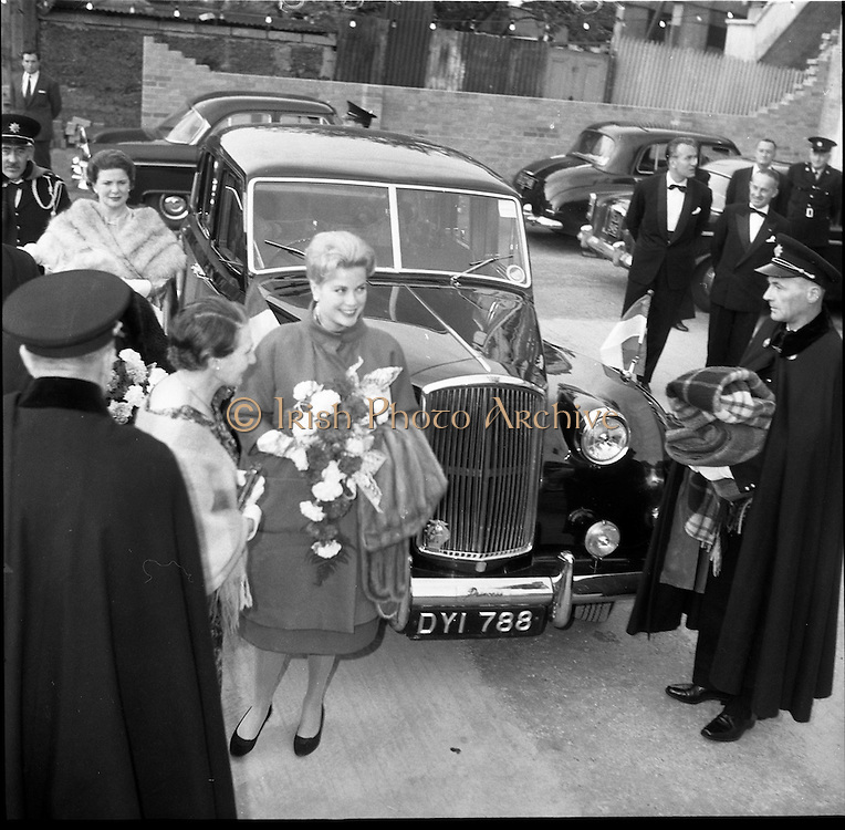 11/06/1961<br /> 06/11/1961<br /> 11 June 1961<br /> Royal Visit to Ireland by Princess Grace and Prince Rainier of Monaco. The couple attend Croke Park for the opening ceremony of the Dublin International Festival of Music and Arts, in which the National Operatic Orchestra of Monaco was participating. Vanden Plas car