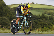 Primoz Roglic (SLO - Team LottoNL - Jumbo) during the 105th Edition of Tour de France 2018, cycling race stage 20, time trial, Saint Pee sur Nivelle - Espelette (31 km) on July 28, 2018 in Espelette, France - Photo Luca Bettini / BettiniPhoto / ProSportsImages / DPPI
