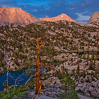 The view from our camp site in Sixty Lakes Basin.