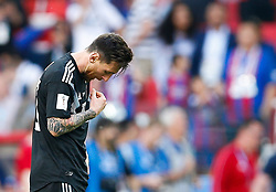 June 16, 2018 - Moscou, Rússia - MOSCOU, MO - 16.06.2018: ARGENTINA VS ICELAND - Argentina's el Mes Messi regrets a draw aftegentine-Iceland match valid lid for the first round of Group D of the 2018 World Cup, held at the Otkrytie Arena in Moscow, Russia. (Credit Image: © Marcelo Machado De Melo/Fotoarena via ZUMA Press)