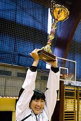 at last 10th Round handball match of Slovenian Women National Championships between RK Krim Mercator and RK Olimpija, on May 15, 2010, in Galjevica, Ljubljana, Slovenia. Olimpija defeated Krim 39-36, but Krim became Slovenian National Champion. (Photo by Vid Ponikvar / Sportida)