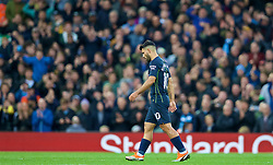 LIVERPOOL, ENGLAND - Sunday, October 7, 2018: Manchester City's Sergio Aguero is substituted during the FA Premier League match between Liverpool FC and Manchester City FC at Anfield. (Pic by David Rawcliffe/Propaganda)
