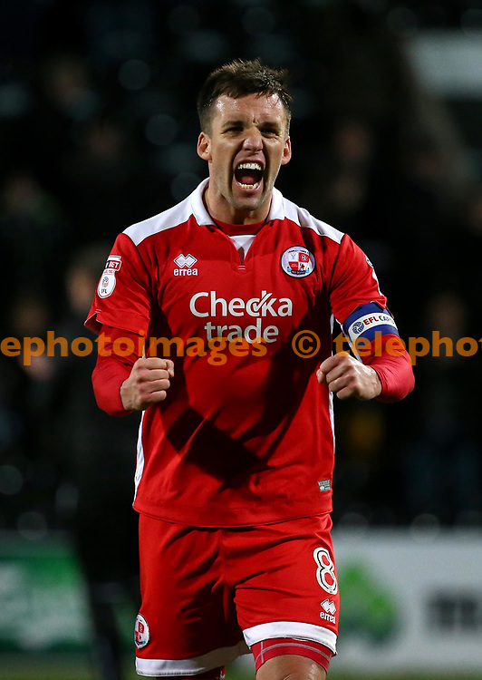 Crawley's goal scorer Jimmy Smith celebrates on the final whistle during the Sky Bet League 2 match between Notts County and Crawley Town at Meadow Lane in Nottingham. 23 Jan 2018