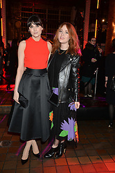 Left to right, LILAH PARSONS and ANGELA SCANLON at the YSL Beauty: YSL Loves Your Lips party held at The Boiler House,The Old Truman Brewery, Brick Lane,London on 20th January 2015.