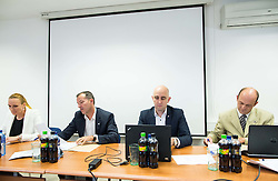Petra Majdic, Enzo Smrekar, Jozko Krizan and Jurij Zurej during meeting of Executive Committee of Ski Association of Slovenia (SZS) on September 22, 2015 in SZS, Ljubljana, Slovenia. Photo by Vid Ponikvar / Sportida