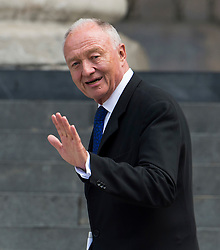 © Licensed to London News Pictures. 07/07/2015. London, UK. Former Mayor of London, KEN LIVINGSTONE leaving the service. . A church service held at St Paul's Cathedral In London on the 10th anniversary of the 7/7 bombings in London which killed 52 civilians and injured over 700 more.  Photo credit: Ben Cawthra/LNP
