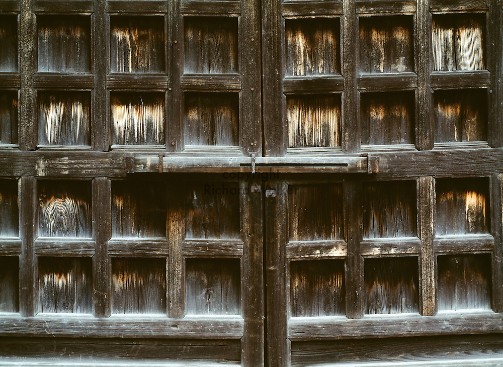 1999 KYOTO, JAPAN - Door at Shinto shrine in Kyoto, Japan. CREDIT: Richard Walker