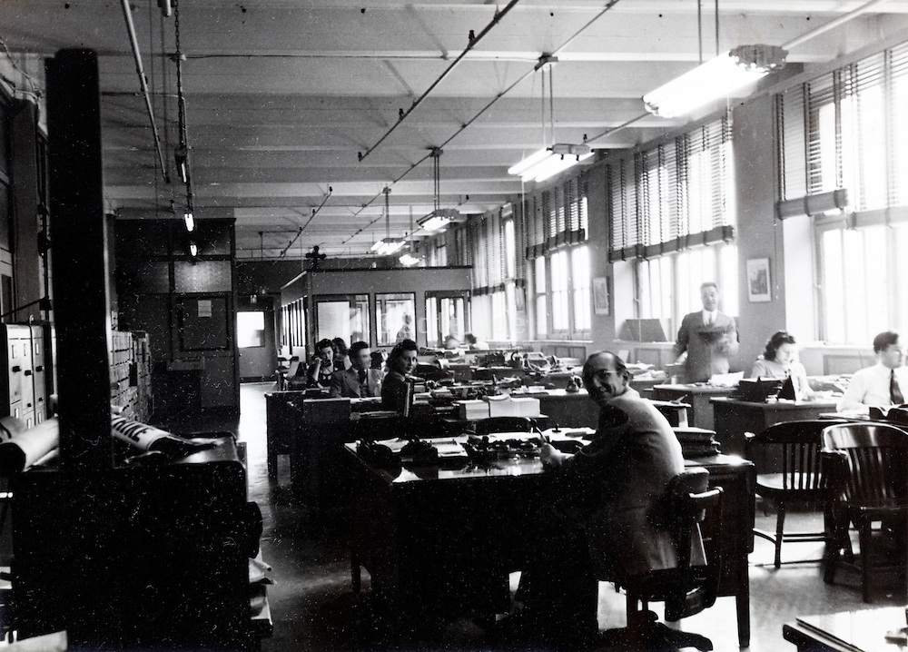 large open office department USA 1940s