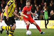 Craig Clay of Leyton Orient (8) passes the ball during the Vanarama National League match between Harrogate Town and Leyton Orient at Wetherby Road, Harrogate, United Kingdom on 22 September 2018.