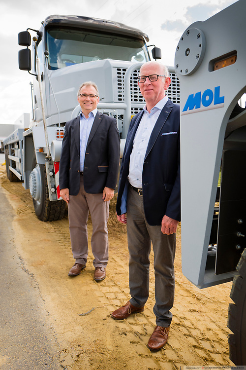 Staden, Belgium, 7 jun 2017, Director Lieven Nueville and CEO Martin Mol of Mol Cy industrial vehicel manufacturing