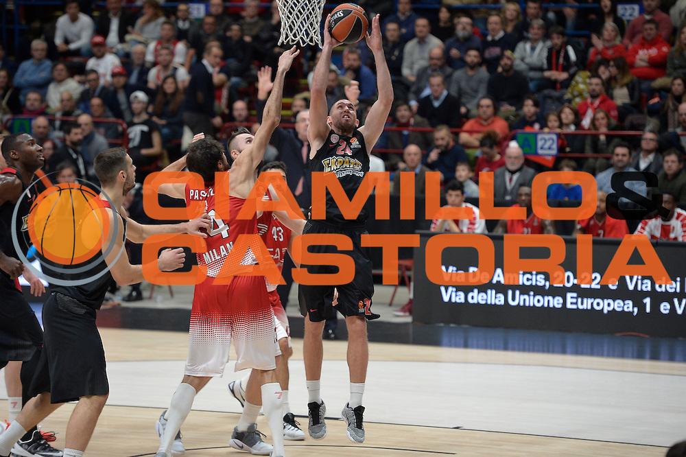 Lojeski Matt<br /> EA7 Emporio Armani Olimpia Milano - Olympiacos Piraeus<br /> Euroleague 2016/2017<br /> Milano 25/01/2017<br /> Foto Ciamillo-Castoria