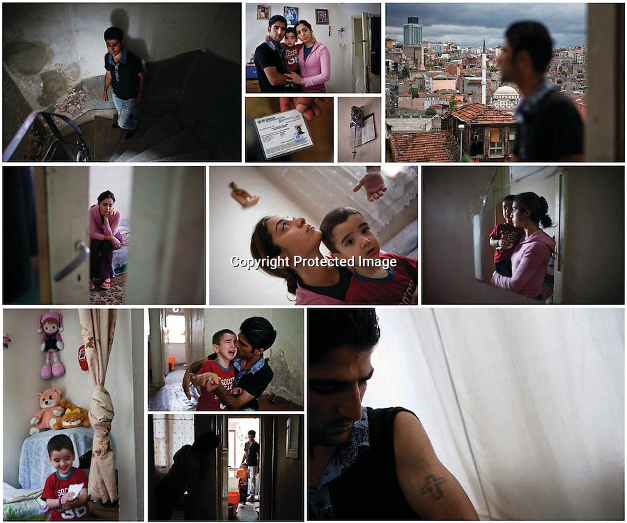 Iraqi Christian Refugee Jalal Dewood Shabo and his family, Istanbul, Turke, 2010.