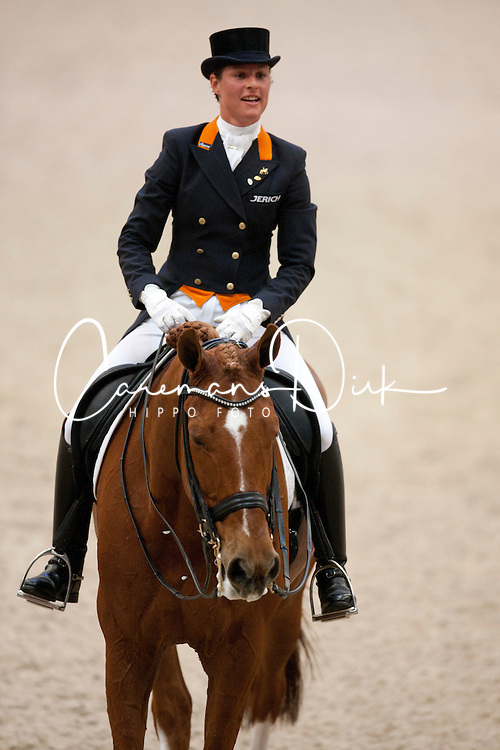 Cornelissen Adelinde (NED) - Jerich Parzival<br /> Grand Prix <br /> Reem Acra FEI World Cup Final Dressage Leipzig 2011<br /> &copy; Dirk CaremansCornelissen Adelinde (NED) - Jerich Parzival<br /> Winner of the Grand Prix <br /> Reem Acra FEI World Cup Final Dressage Leipzig 2011<br /> &copy; Dirk Caremans