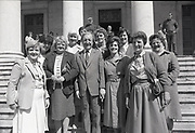 Fianna Fáil's candidates handing in nomination papers for Euro-election at Courthouse, Cork,<br /> 15th May 1984