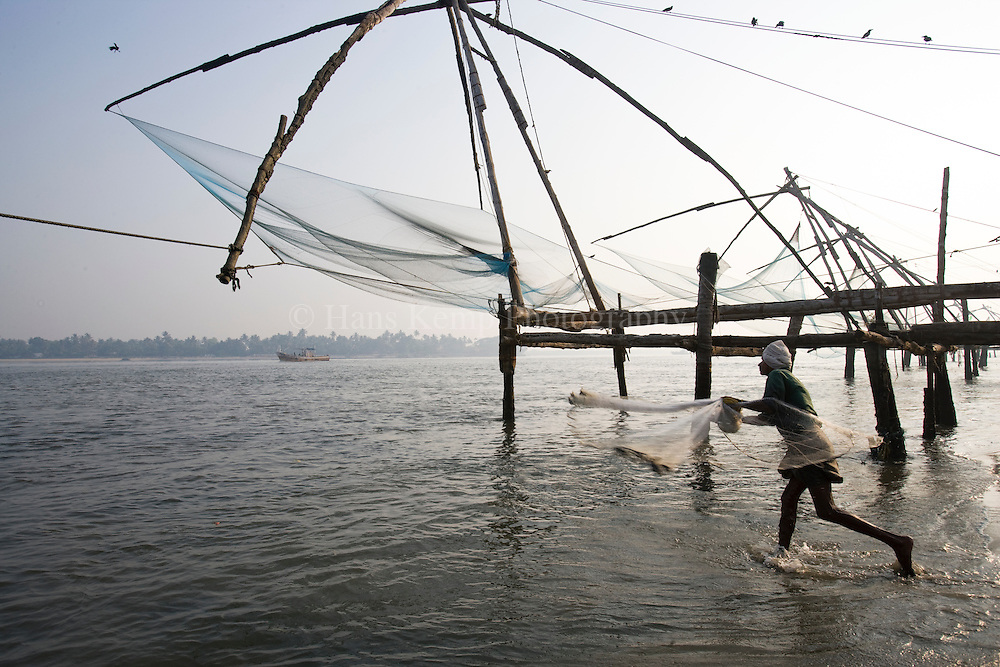 Chinese fishing nets in Fort Cochin, Kerala, India