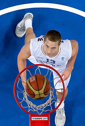 Maxime de Zeeuw of Belgium during basketball match between National teams of Belgium and Slovenia in Group D of Preliminary Round of Eurobasket Lithuania 2011, on September 4, 2011, in Arena Svyturio, Klaipeda, Lithuania.  Slovenia defeated Belgium 70-61. (Photo by Vid Ponikvar / Sportida)