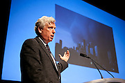 """Hon. David Miller, former Mayor of Toronto and Head of C40 in Toronto, presented """"Smart Cities: Transportaton, Energy and Jobs"""" at the Manhattan Chamber of Commerce's Transportation Transformation Global Summit at NYIT in New York on April 26, 2012."""