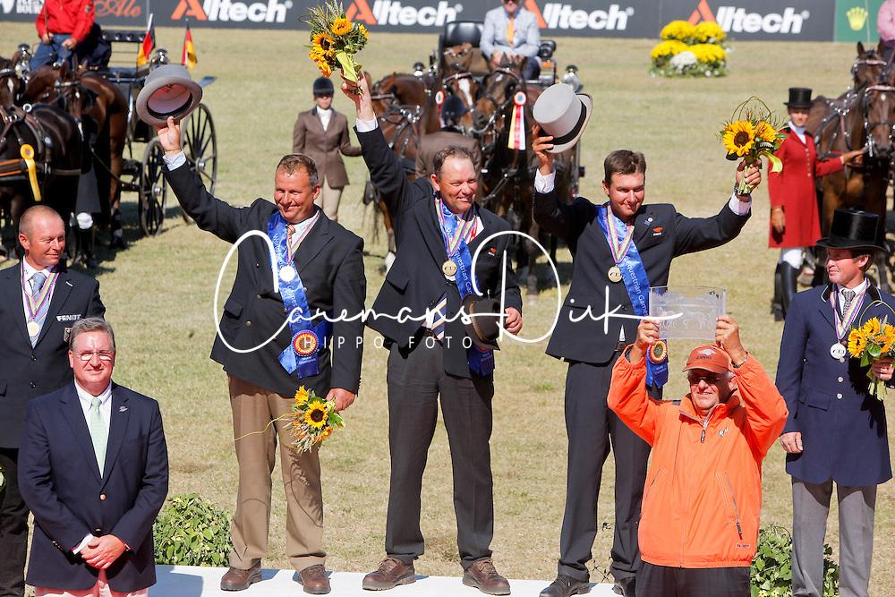 Team Nederland GOUD<br /> Timmerman Theo, Chardon Ijsbrandt, De Ronce Koos, Tjeerd Velstra<br /> Alltech FEI World Equestrian Games <br /> Lexington - Kentucky 2010<br /> &copy; Hippo Foto - Dirk Caremans