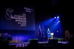 Bloudkova priznanja, 53. podelitev Bloudkovih priznanj za leto 2017, on February 16, 2018 in Brdo pri Kranju, Kranj, Slovenia. Photo by Ziga Zupan / Sportida