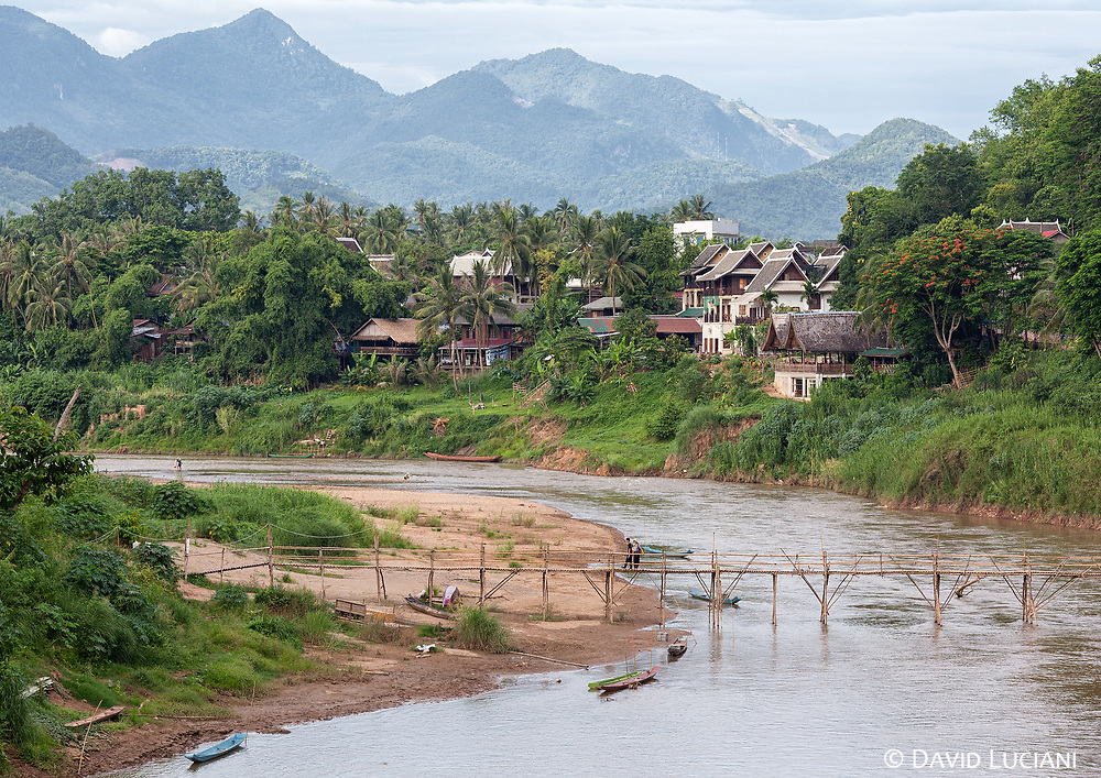 Nam Khan river flows through Luang Prabang and it is a tributary of the Mekong River.