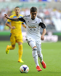 "Swansea City's Pablo Hernandez  - Photo mandatory by-line: Joe Meredith/JMP - Tel: Mobile: 07966 386802 22/08/2013 - SPORT - FOOTBALL - Liberty Stadium - Swansea -  Swansea City V Petrolul Ploiesti - Europa League Play-Off EDITORIAL USE ONLY. No use with unauthorised audio, video, data, fixture lists, club/league logos or ""live"" services. Online in-match use limited to 45 images, no video emulation. No use in betting, games or single club/league/player publications"