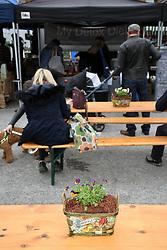 Brockley Saturday market, Lewisham, South London March 2019 UK
