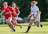 Sarah Bern in action, U20 England Women v U20 Canada Women at Trent College, Derby Road, Long Eaton, England, on 26th August 2016