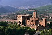 Castle & Cathedral in Javier, Navarra, Spain.