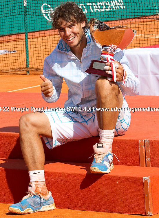 Rafael NADAL (ESP) against Fernando VERDASCO (ESP) in the final. Rafael Nadal beat Fernando Verdasco 6-0 6-1..International Tennis - 2010 ATP World Tour - Masters 1000 - Monte-Carlo Rolex Masters - Monte-Carlo Country Club - Alpes-Maritimes - France.