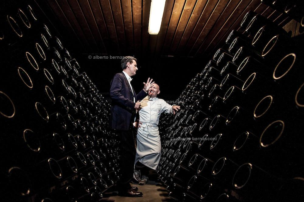 Trento, Villa Mrgon , chef Alfio GHEZZI, con cantine  Ferrari
