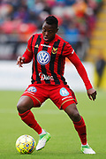 OSTERSUND, SWEDEN - APRIL 21: Patrick Kpozo of Ostersunds FK during the Allsvenskan match between Ostersunds FK and Orebro SK at Jamtkraft Arena on April 21, 2018 in Ostersund, Sweden. Photo by Nils Petter Nilsson/Ombrello ***BETALBILD***