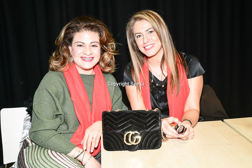 Marie Dawlatli and Christine Saleh Jamil attends the 2020 China-Britain Chinese New Year Extravaganza with 200 performers from over 20 art groups from both China and the UK showcase at Logan Hall on 18th January 2020, London, UK.