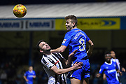 Gillingham FC midfielder Jake Hessenthaler (8) and Rochdale midfielder Brad Inman (17) during the EFL Sky Bet League 1 match between Gillingham and Rochdale at the MEMS Priestfield Stadium, Gillingham, England on 13 January 2018. Photo by Martin Cole.