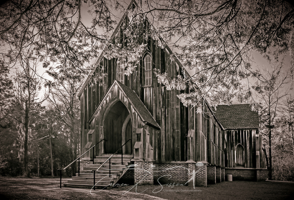 "St. Luke's Episcopal Church is pictured, Feb. 7, 2015, at Old Cahawba Archaeological Park in Orrville, Alabama. The Carpenter Gothic church was designed by Richard Upjohn and built in 1854. It was relocated to Old Cahawba Archaeological Park in 2007. The church is listed in the National Register of Historic Places and is owned by the Alabama Historical Commission. Cahaba, also known as ""Old Cahawba,"" was Alabama's state capital from 1819-1826 but was abandoned after the Civil War. It is now considered a ghost town. It is located in Dallas County near Selma, Alabama. (Photo by Carmen K. Sisson/Cloudybright)"