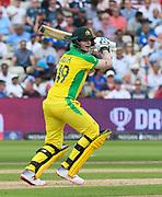Steve Smith of Australia batting during the ICC Cricket World Cup 2019 semi final match between Australia and England at Edgbaston, Birmingham, United Kingdom on 11 July 2019.