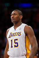 25 December 2011: Forward Metta World Peace of the Los Angeles Lakers against the Chicago Bulls during the second half of the Bulls 88-87 victory over the Lakers at the STAPLES Center in Los Angeles, CA.