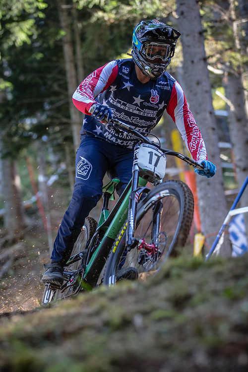 Charlie Harrison (USA) at the 2018 UCI MTB World Championships - Lenzerheide, Switzerland