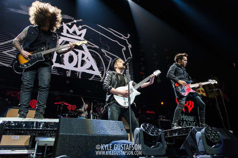 WASHINGTON, D.C. - December 16th, 2013 - Fall Out Boy perform onstage during Hot 99.5's Jingle Ball 2013, presented by Overstock.com, at Verizon Center on December 16, 2013 in Washington, D.C. (Photo by Kyle Gustafson / For The Washington Post)