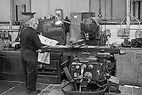 No. 2 maintenance shop at Tinsley Wire Industries Ltd (TWIL), Sheffield 1980